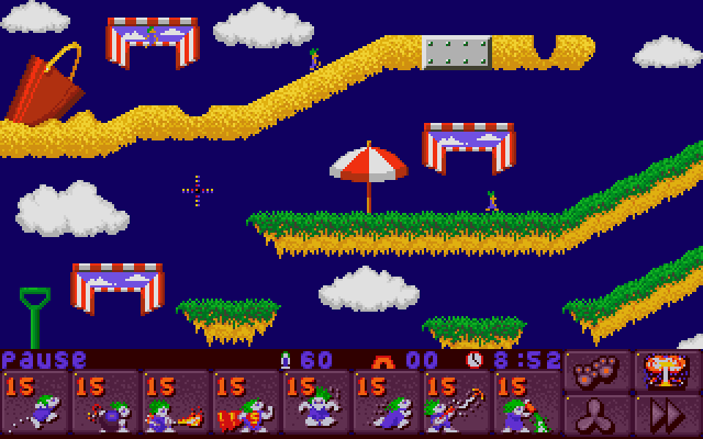 Screenshot of Lemmings 2 (DOS)
